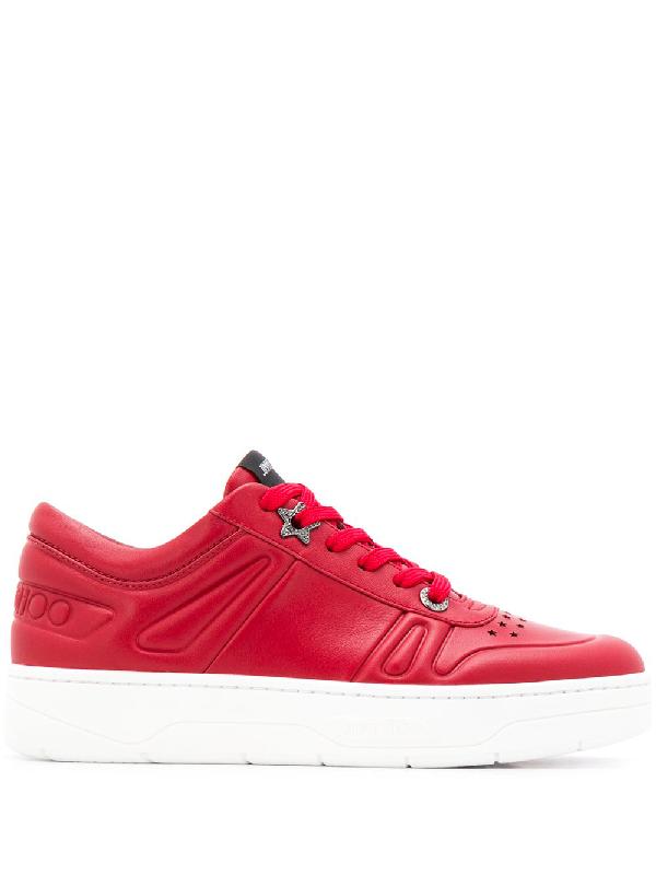 Jimmy Choo Hawaii Low-top Sneakers In Red