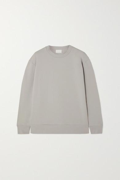 Handvaerk Stretch-pima Cotton-jersey Sweatshirt In Gray