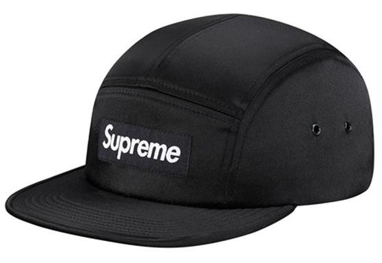 Supreme Satin Camp Cap Black