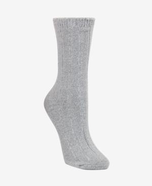 Dkny Super Soft Knit Wide Rib Boot Sock, Online Only In Grey Twist
