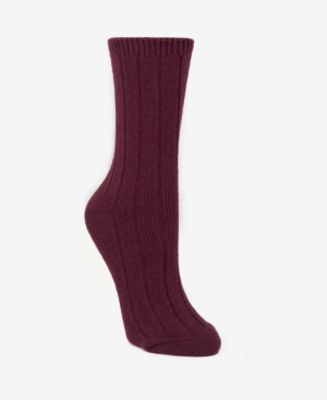 Dkny Super Soft Knit Wide Rib Boot Sock, Online Only In Burgundy