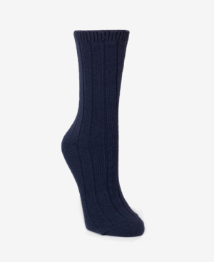 Dkny Super Soft Knit Wide Rib Boot Sock, Online Only In Ink