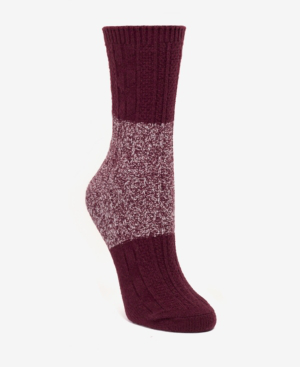 Dkny Super Soft Chunky Color-blocked Boot Sock, Online Only In Cranberry