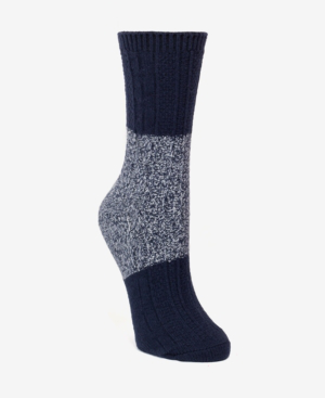 Dkny Super Soft Chunky Color-blocked Boot Sock, Online Only In Ink