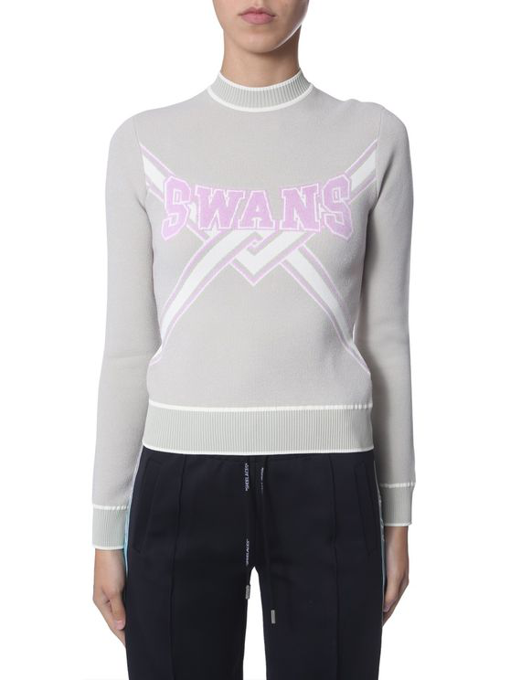 Off-white Cropped Sweater In Grey