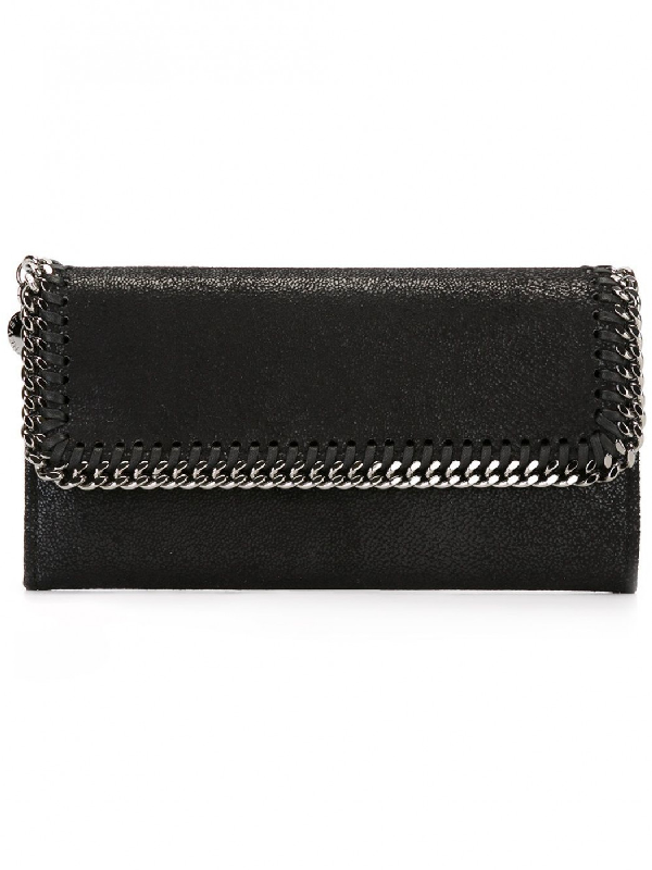 Stella Mccartney Women's Wallet Coin Case Holder Purse Card Bifold  Continental Falabella Shaggy Deer In 1000 Black