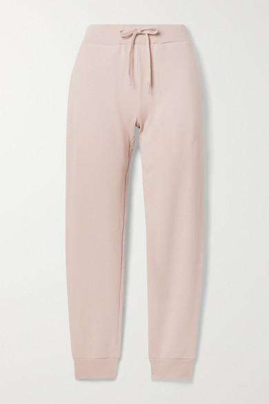 Handvaerk Pima Cotton-terry Track Pants In Pastel Pink