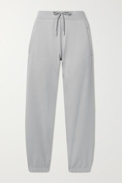 Handvaerk Stretch-pima Cotton Track Pants In Gray