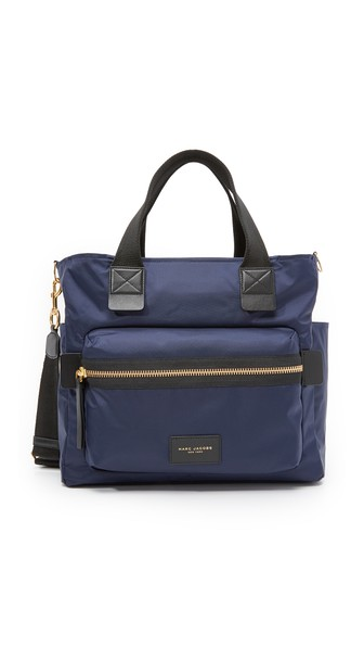 Marc Jacobs Nylon Biker Baby Bag In Midnight Blue