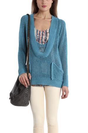 Vpl Women's  Schlemmer Scoop Sweater In Blue