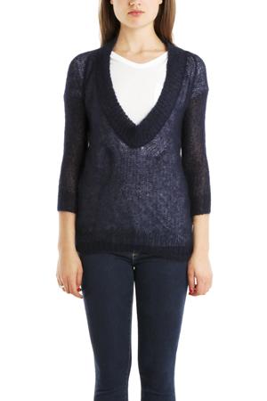 Vpl Women's  Low O Sweater In Navy Blue