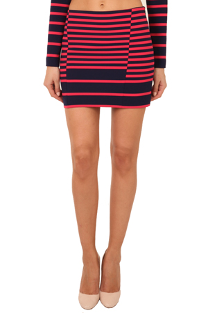 Thakoon Women's  Addition Striped Mini Skirt In Navy,pink