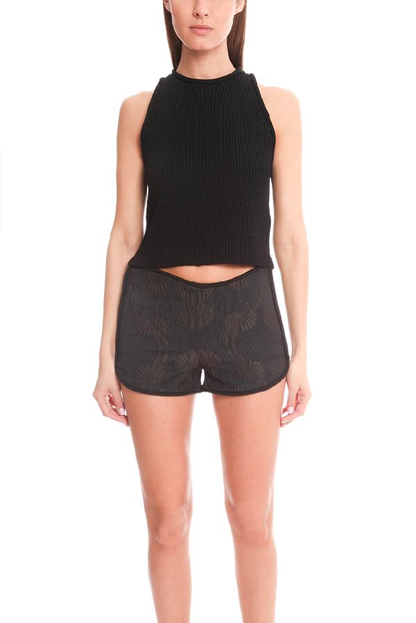 3.1 Phillip Lim Women's  Sleeveless Rib Stitch Sweater Top In Black
