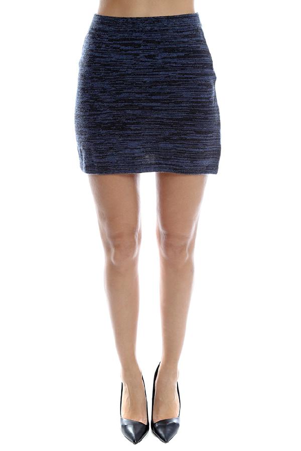 Thakoon Women's  Denim Knit Skirt In Navy
