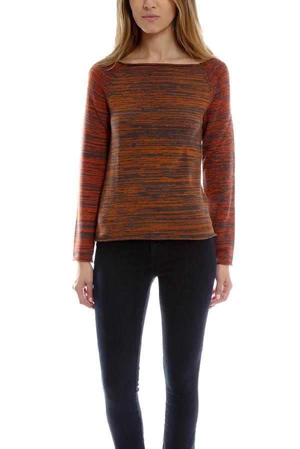 Thakoon Women's  Boatneck Sweater In Rust