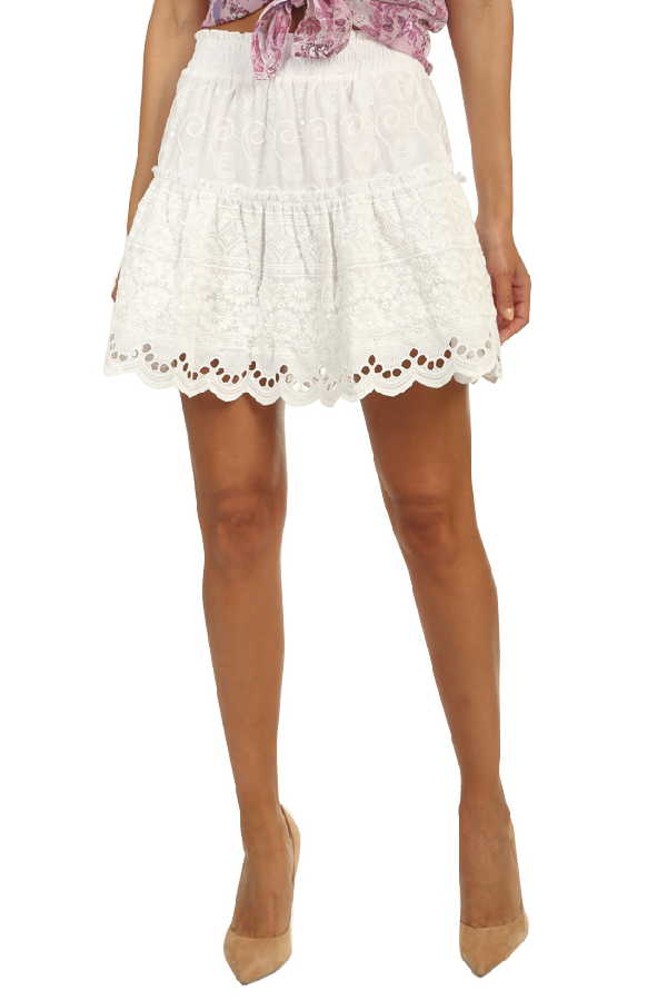 Misa Women's  Los Angeles Gya Skirt In White