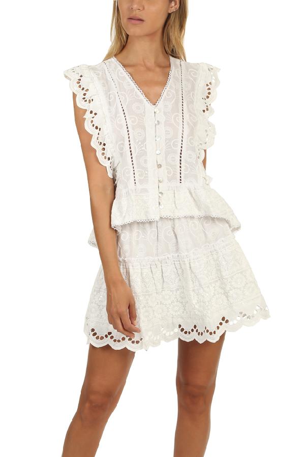Misa Women's  Los Angeles Rani Top In White
