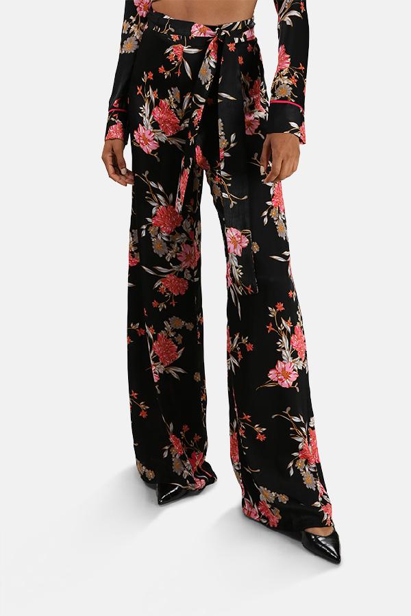 Misa Women's  Los Angeles Aliya Pants In Black Floral