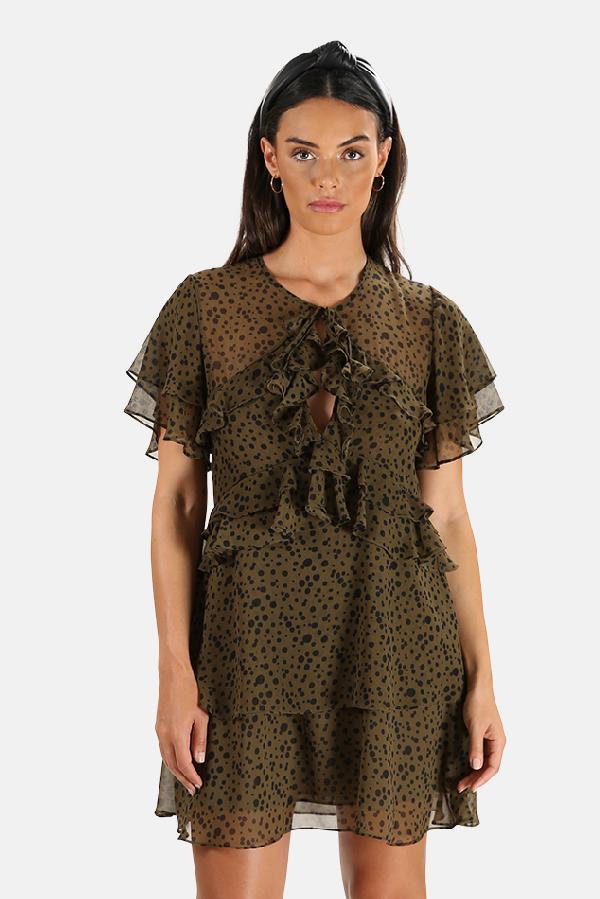 Misa Women's  Los Angeles Ignacia Dress In Olive