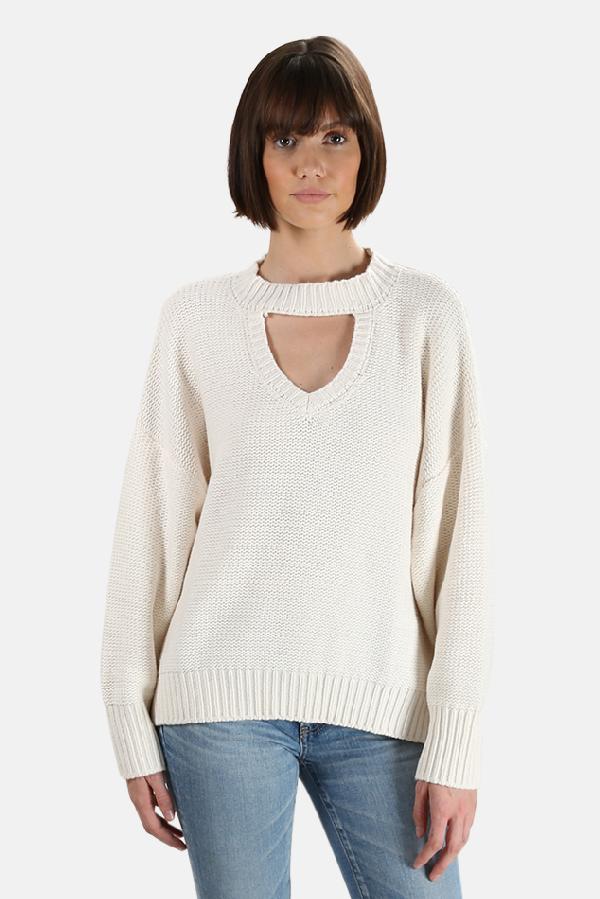 Misa Women's  Los Angeles Darlene Sweater In White
