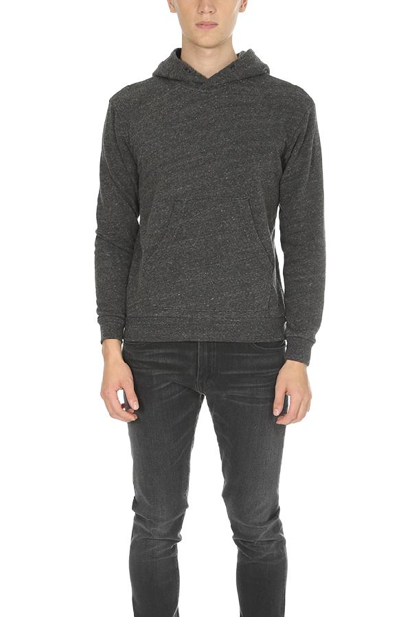 Velva Sheen Men's  Pullover Hoodie Sweater In Black