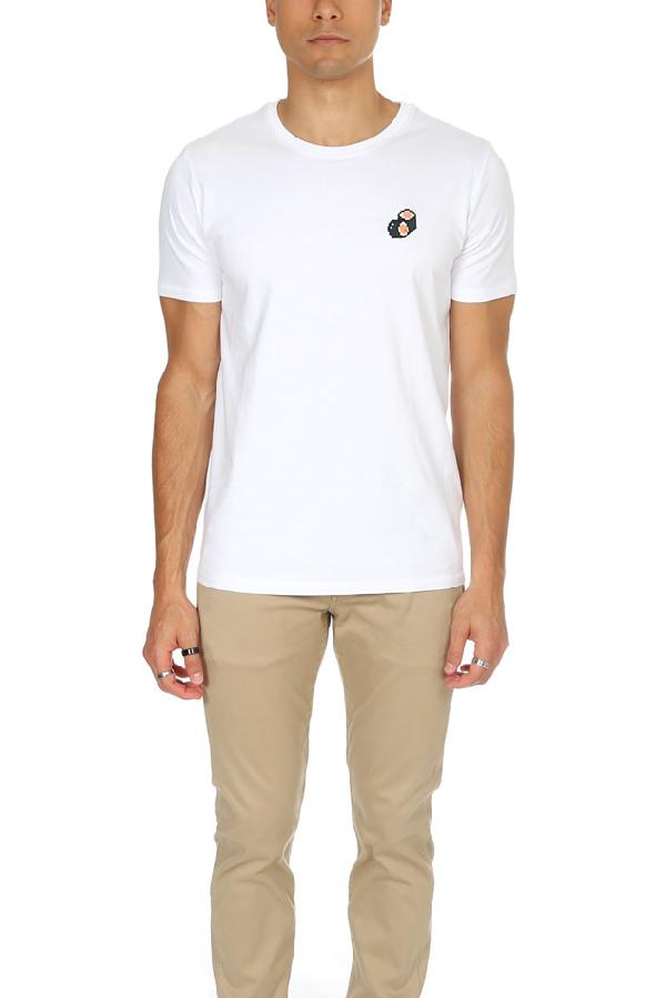 Bricktown Men's  Sushi Graphic T-shirt In White