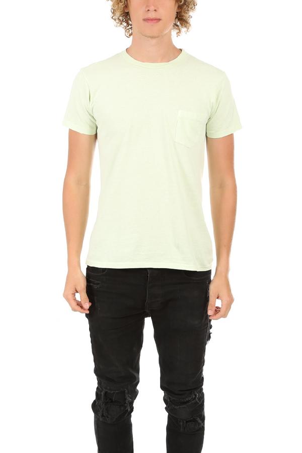 Velva Sheen Pigment Pocket Classic T-shirt In Green