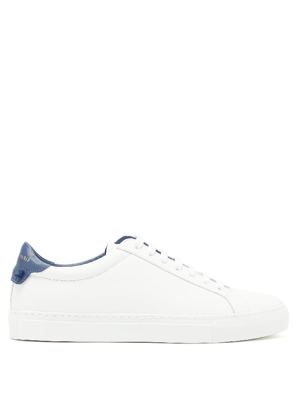 Givenchy Urban Street Low-top Leather Trainers In White/blue