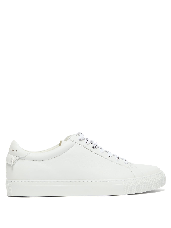 Givenchy White Logo Laces Urban Street Sneakers In 104 White