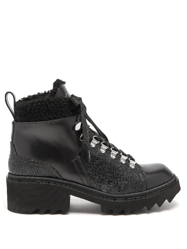 ChloÉ Bella Shearling-lined Leather AprÈs-ski Boots In Black