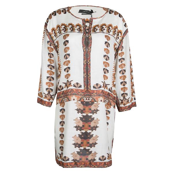 Isabel Marant Off White Printed Story Sandrine Dress S