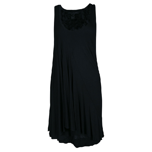Marc By Marc Jacobs Black Chelsea Jersey Asymmetric Dress M