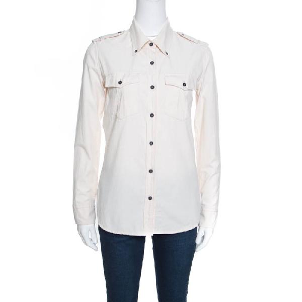 Isabel Marant Etoile Beige Cotton Long Sleeve Wandy Shirt S