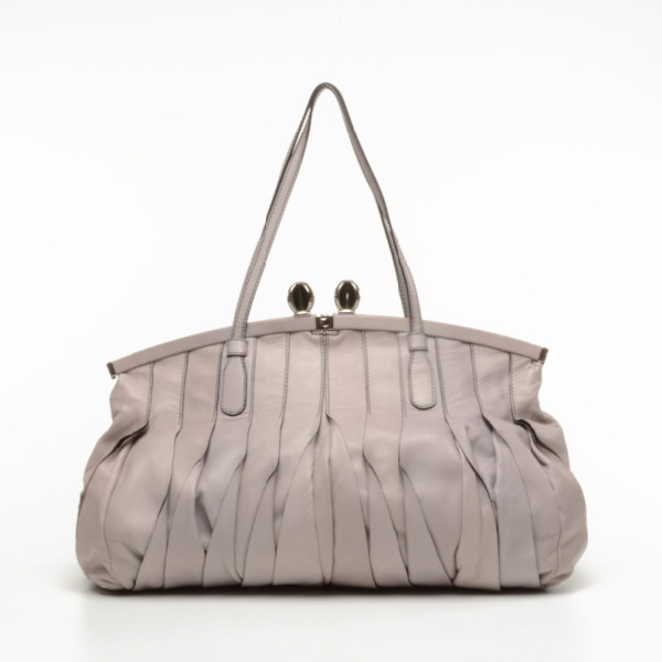 Valentino Garavani Vertical Pleated Handbag In Purple