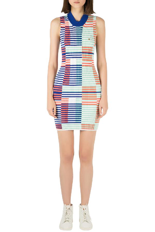 Kenzo Multicolor Rib Knit Striped Sleeveless Bodycon Dress M
