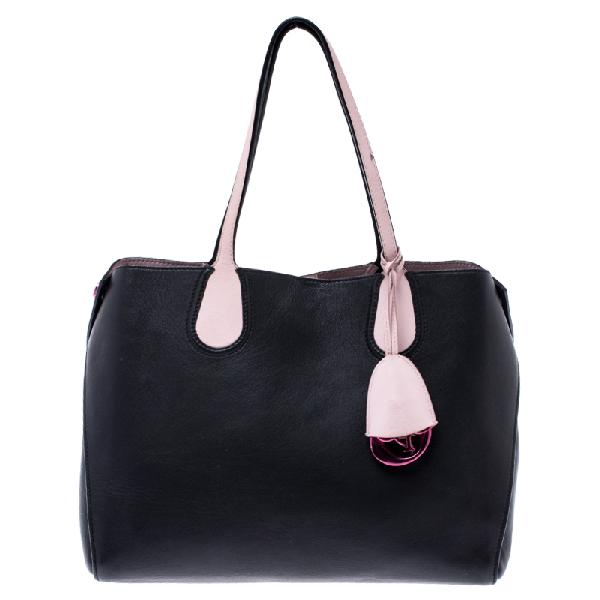 Dior Addict Shopping Tote In Black