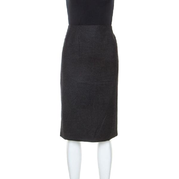 Jil Sander Jill Sander Grey Virgin Wool And Cashmere Blend Sheath Skirt Xl