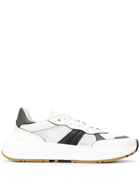 Bottega Veneta 250 Speedster Stripe Leather & Mesh Sneakers In White