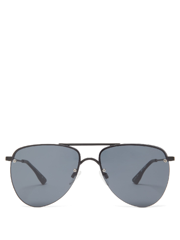 Le Specs The Prince Sunglasses In Matte Black Metal