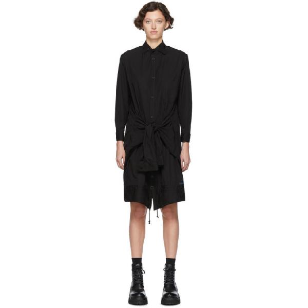 Regulation Yohji Yamamoto Black R-up/down Shirt Dress In 2 Black