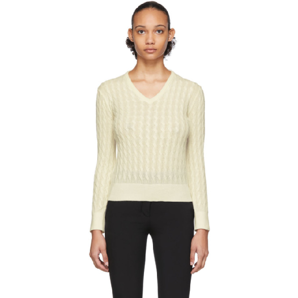 The Row Off-white Rozanne Sweater In Ivr Ivory