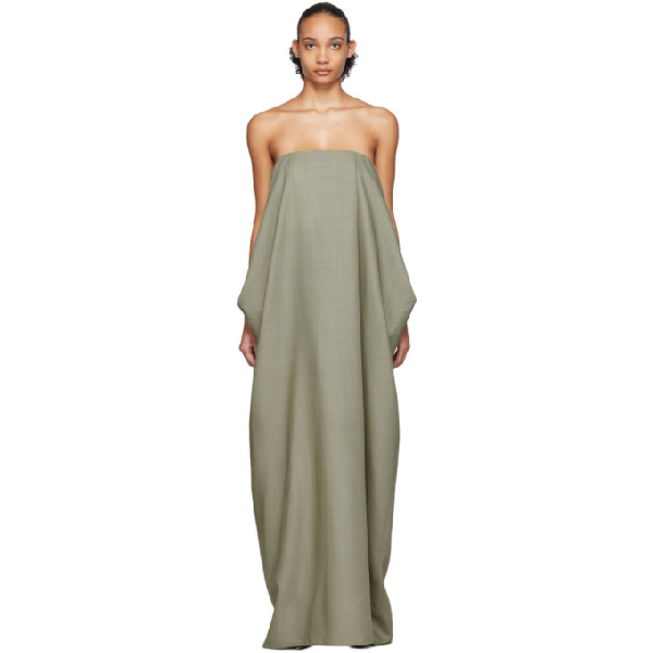 The Row Green Lu Dress In Pale Sage