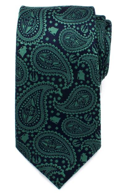 Cufflinks, Inc Yoda Paisley Silk Tie In Green