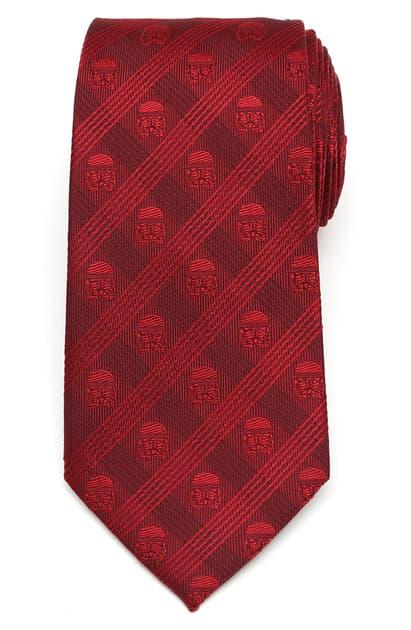 Cufflinks, Inc Plaid Stormtrooper Silk Tie In Red