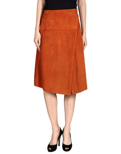 Proenza Schouler Midi Skirts In Rust