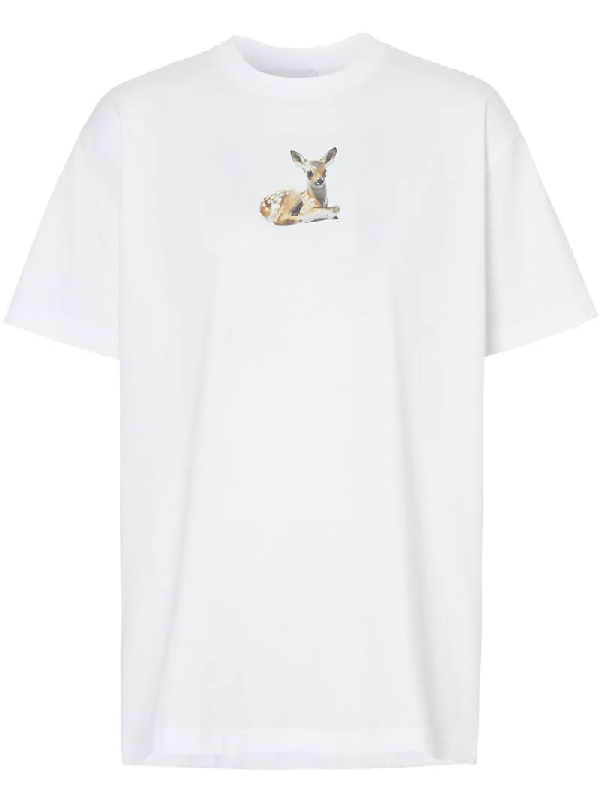 Burberry Devon Deer-print Cotton-jersey T-shirt In A1464