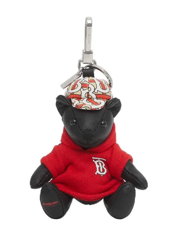 Burberry Red Thomas Bear Leather Key Charm