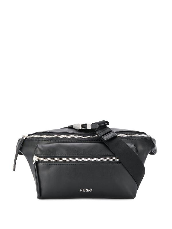 Hugo Boss Zipped Belt Bag In Black