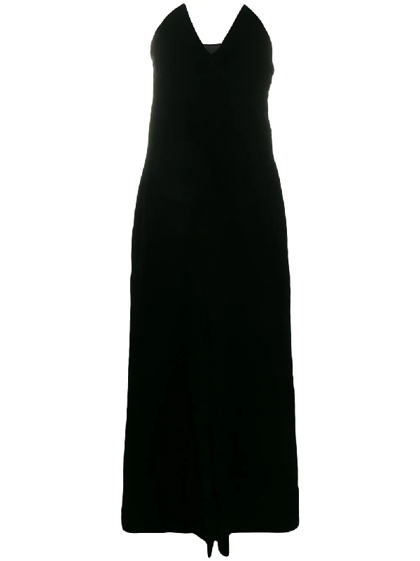 Saint Laurent 1996 Velvet Strapless Dress In Black