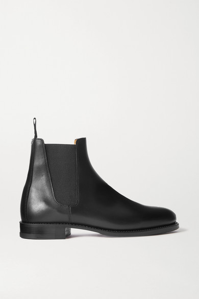 Ludwig Reiter Leather Chelsea Boots In Black